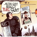 Great cartoon from Rick McKee at the Augusta Chronicle about the mainstream media's coverage of the arrests at the #OccupyWallStreet protests.